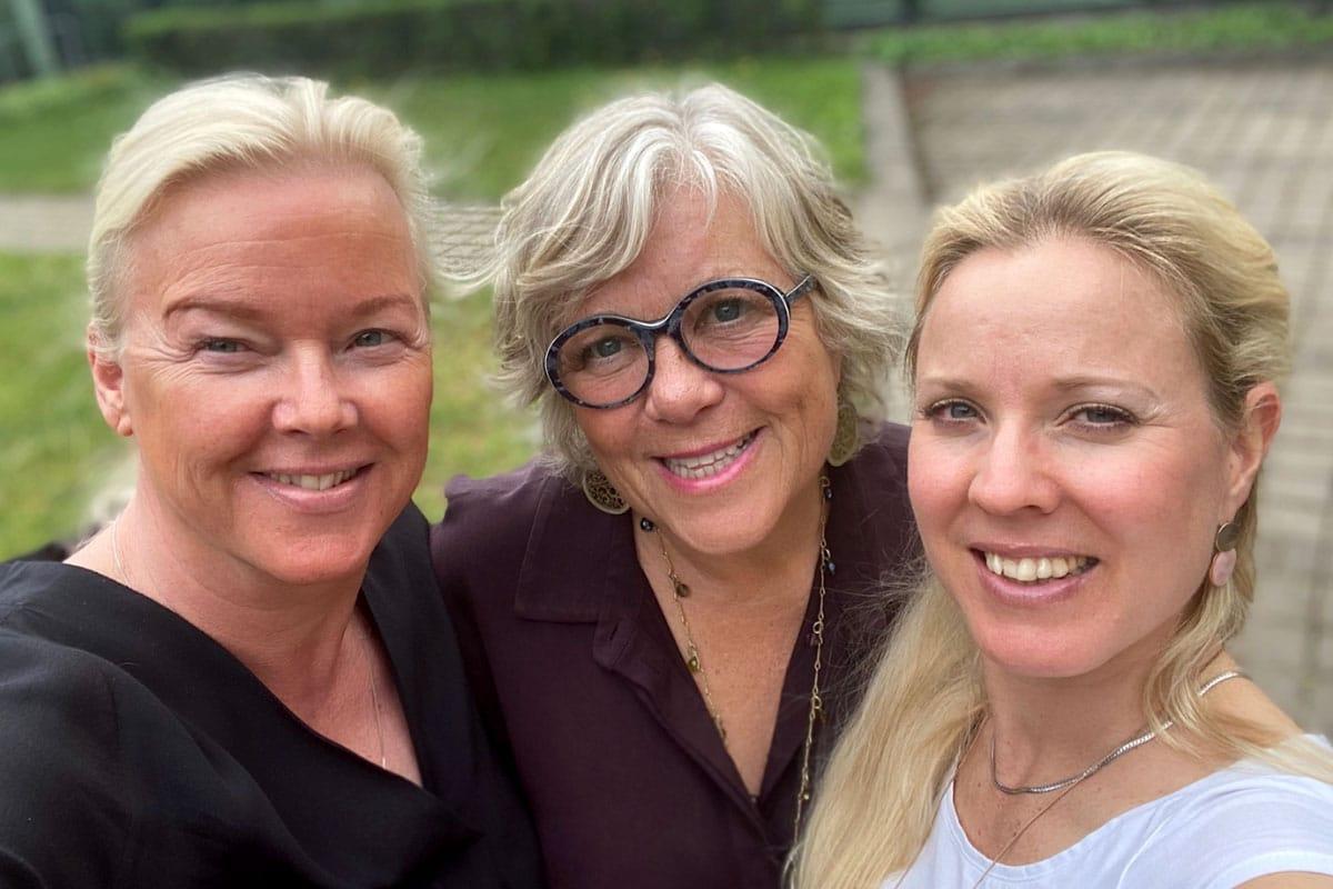 Susanne, Anette och Lizzie